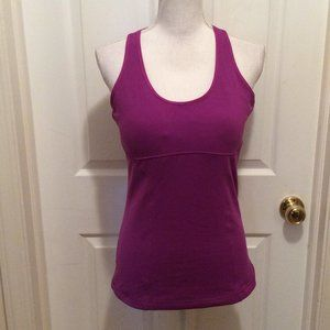 Lucy Top L Magenta Purple Padded Racer Back
